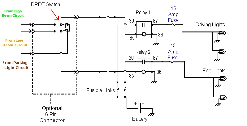 wiring of fog and driving lights ck5 forums relay wiring diagram for driving lights at readyjetset.co
