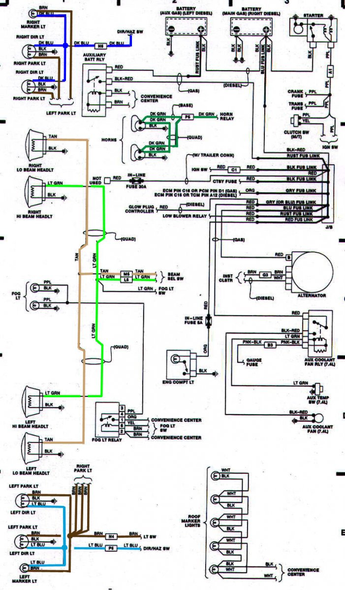 k blazer wiring diagram image wiring 89 91 blazer jimmy grille swap on 1986 k5 blazer wiring diagram