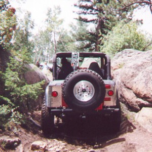 Jeep entering the Chute